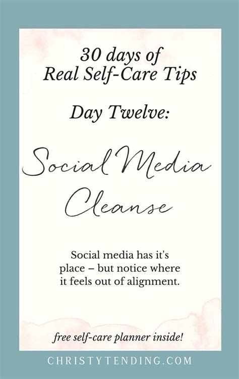 Self Care During A Detox by Real Self Care Social Media Cleanse Mental Health