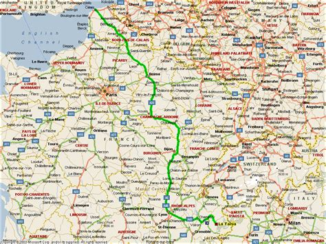 Map Quest Route by La Tania Route Map Calais To Three Valleys Map And