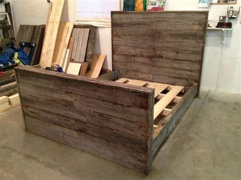 Barn Wood Bed Frames Custom Weathered Barnwood Bed Frame For The Home Pinterest Awesome Awesome Husband And Beds