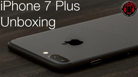 iphone 7 plus schwarz 256gb unboxing german