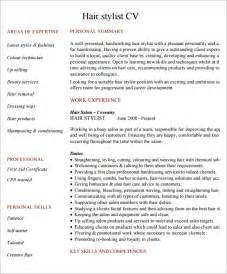 hairdressing cv template 7 documents in pdf