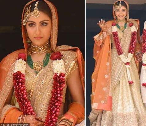 soha ali khan wedding pic top 10 indian wedding dresses trends