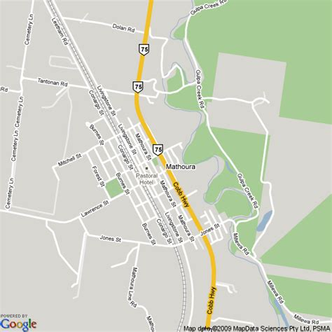 map  mathoura nsw hotels accommodation
