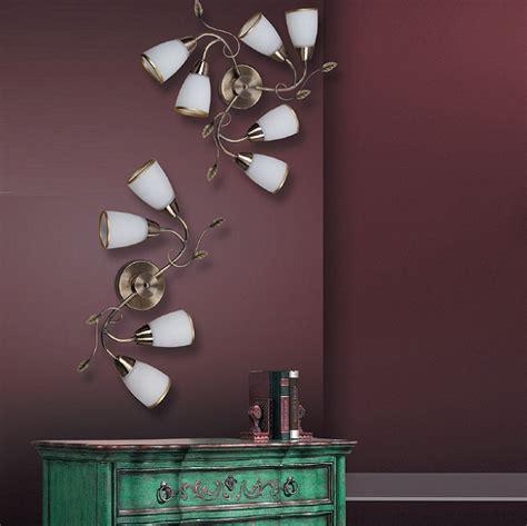 le oder leuchte florale leuchte f 252 r die wand oder decke bronze in zwei