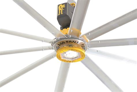 big fan lights a led equipped industrial ceiling fan