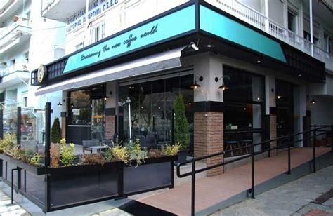 desain cafe kontemporer modern  konsep outdoor