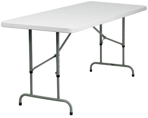 30 quot height adjustable granite white plastic folding table