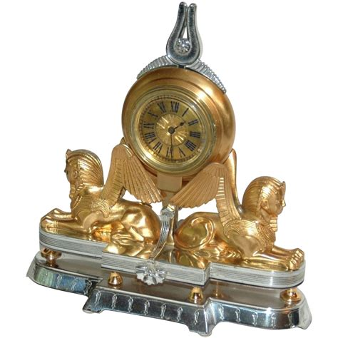 Small Desk Clock Swiss Nouveau Small Table Or Desk Clock From Vrantiques On Ruby
