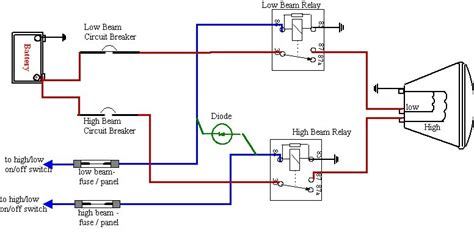 halogen light wiring diagram diagram with terminals and