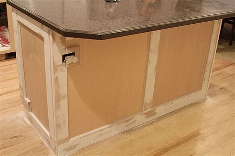 Kitchen Cabinet Floor Trim Trim Out Kitchen Island Diy Trim And Molding Islands Kitchen Islands And Kitchens