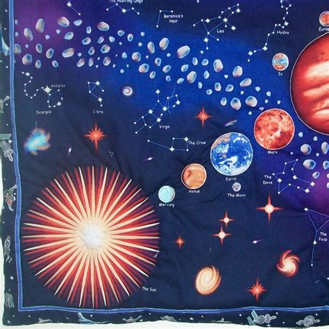 solar system space quilted wall hanging on luulla