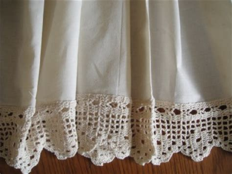 vintage crochet lace cafe kitchen curtain 148x60cm ebay