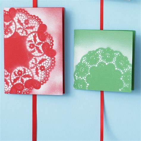make your own cards ideas spray a doily how to make your own cards