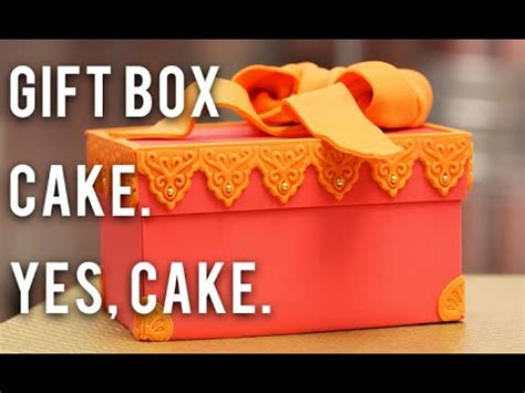 How To Make A Cake Box Out Of Paper - how to make a gift box out of cake chocolate buttercream