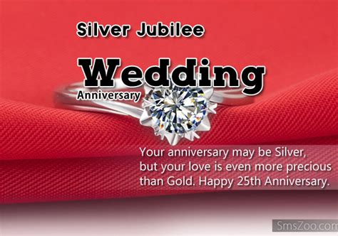 Silver Jubilee Wedding Anniversary Wishes Sms by Silver Jubilee Wedding Anniversary Quotes Best Wishes