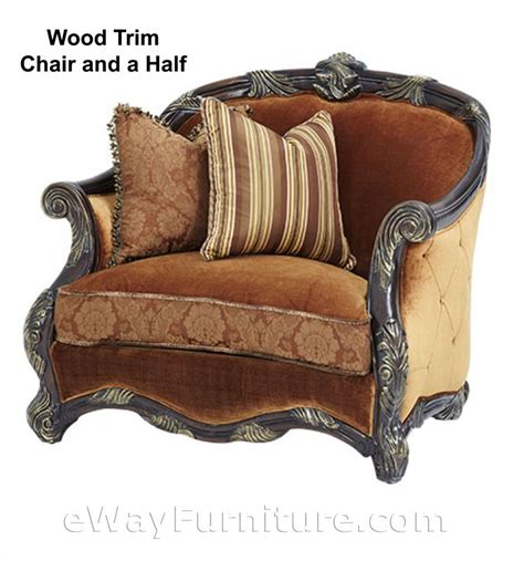 one and half chair with ottoman nottingham chair and a half with ottoman