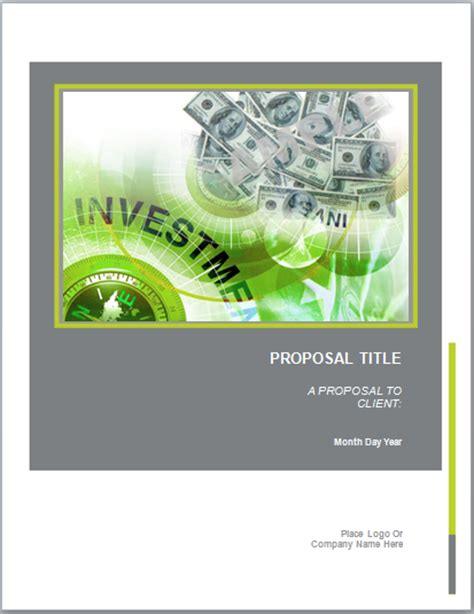 real estate prospectus template investment template microsoft word templates
