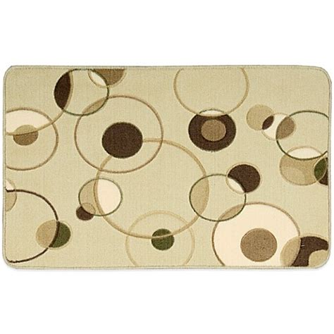 Nourison Kitchen Rugs Nourison 30 Inch X 20 Inch Circles Kitchen Rug In Beige Bed Bath Beyond