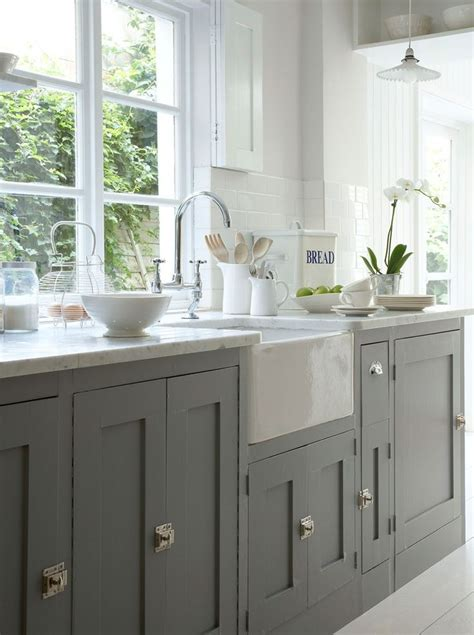 painted grey kitchen cabinets how to paint kitchen cabinets with annie sloan chalk paint