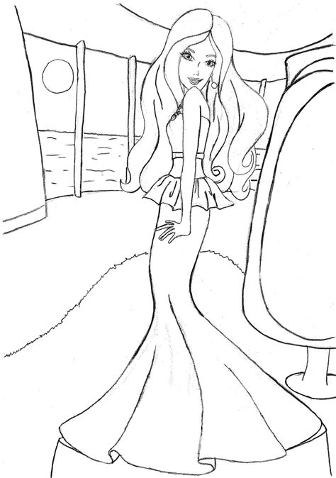 coloring pages of barbie clothes barbie coloring pages fashion coloring home
