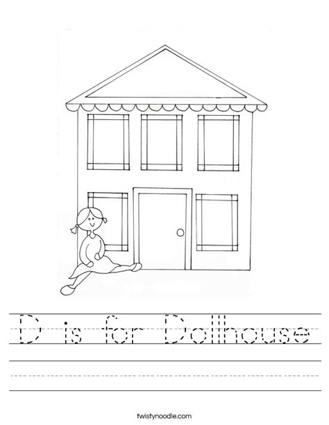 a doll house full text d is for dollhouse worksheet twisty noodle