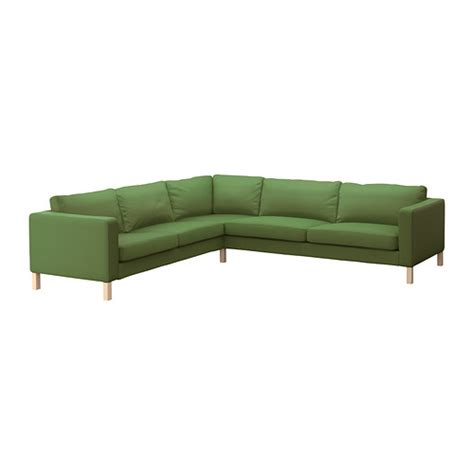 green sofa ikea karlstad corner sofa 2 3 3 2 sivik green ikea