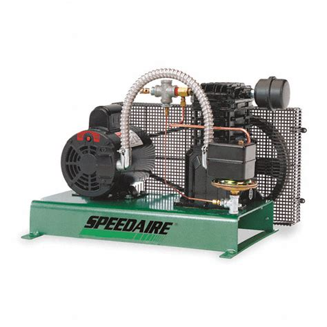 speedaire 1 phase tankless base mounted 2hp electric air compressor 40 psi 4b242 4b242 grainger