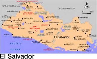 Central America Map El Salvador by 302 Found