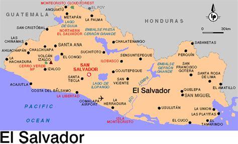 america map el salvador central america