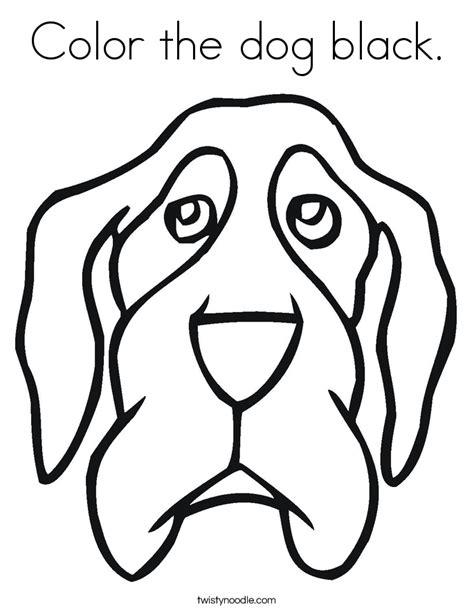 black and white coloring pages of dogs color the dog black coloring page twisty noodle