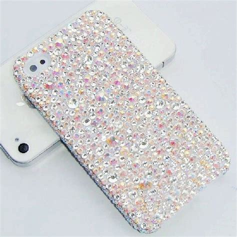 muticolored crystal mobile phone case cover shinning girly
