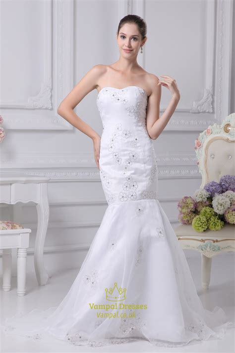 trumpet mermaid organza wedding dress long evening