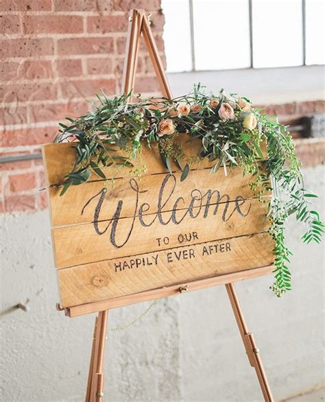 20 brilliant wedding welcome sign ideas for ceremony and - Wedding Ceremony Welcome Sign