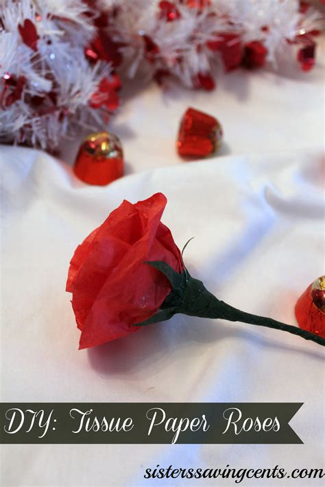 Roses With Tissue Paper - diy tissue paper roses