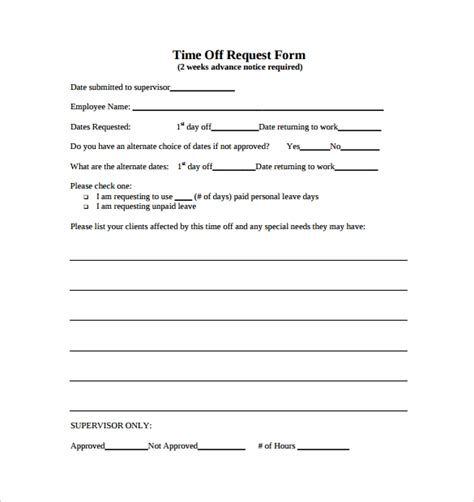 Time Off Request Form 24 Download Free Documents In Pdf Word Time Request Form Template