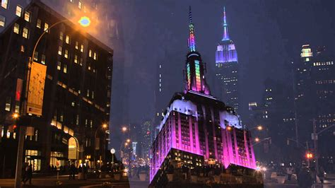 empire state building lights today empire state building lights for easter youtube