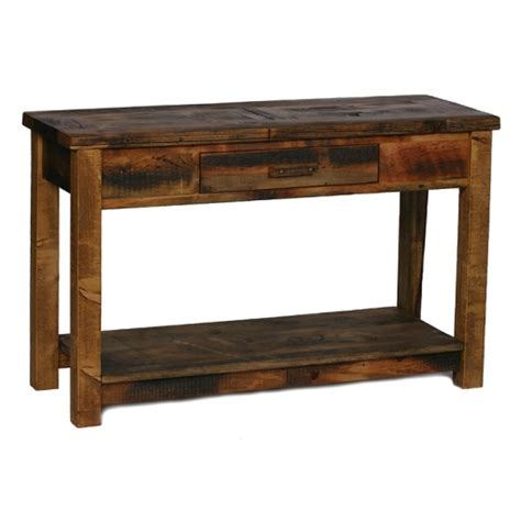 reclaimed wood sofa table colorado reclaimed wood aspen sofa table