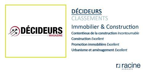 Classement Cabinet Avocat by Classement D 233 Cideurs Immobilier Construction Racine