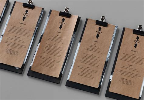 Menu Handmade - menu and parchment paper handmade feel