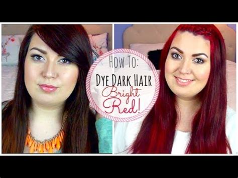 what to dye your hair when its black how to dye dark brown hair bright red without bleaching