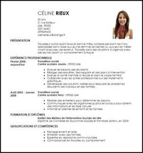 Lettre De Motivation De Travailleur Social Modele Cv Travailleur Social Document