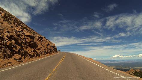 Drive Up Pikes Peak   driving up pikes peak highway in a colorado minute week