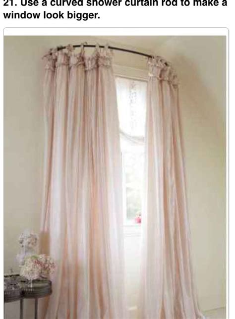 bedroom curtain poles curved shower curtain rod to make windows look bigger