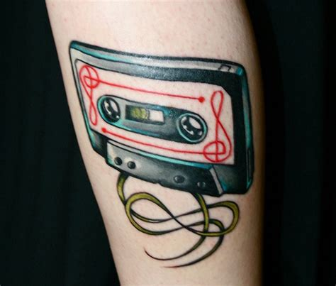 cassette tape tattoo cassette