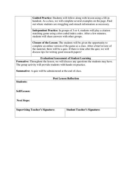 apa format lesson plan mla citation lesson plan