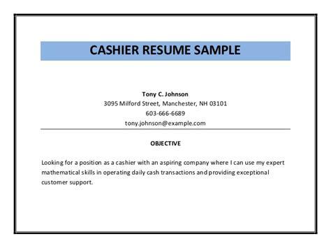 box office cashier resume