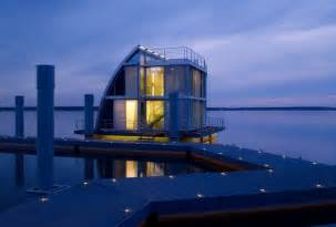 homes on water contemporary floating home in the lusatian lake district