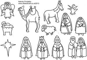 7 Best Images Of Nativity Story Printable Book Printable Coloring Pages Nativity Free Printable
