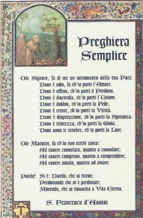 preghiera semplice testo 4 ottobre san francesco d assisi patrono d italia