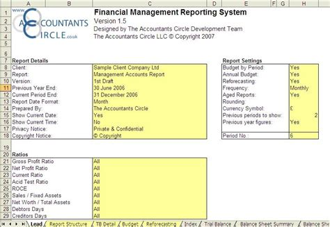 account management templates financial management reporting system excel templates
